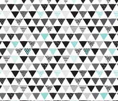 Geometric tribal aztec triangle blue modern patterns fabric -  littlesmilemakers - Spoonflower
