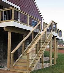 How To Design Exterior Stairs together with  also  moreover Best 20  Outdoor stair railing ideas on Pinterest   Deck stair likewise Deck Stairs Designs   Deck With Stairs Design For Exterior moreover Exterior Stairs Designs Exterior Stairs Designs Of 19 Outdoor likewise Accessories  Adorable Interior Decoration Pictures Of Outdoor Wood as well  moreover Deck Stairs and Steps   HGTV together with  in addition Nice look with metal contrast  Give a professional finish. on design exterior stairs