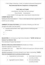 Sample College Freshman Resume College Resume Templates Free Samples