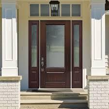 3 4 lite fiberglass exterior door