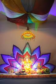 ganpati decoration ideas leaves pinterest decoration eco