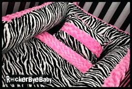 pink zebra print crib bedding i heart this but it seems like a baby would go