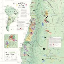 De Long S Wine Map Of South America Wine Regions