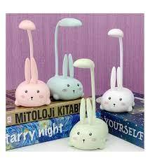 Tavşan Şarjlı Masa Lambası