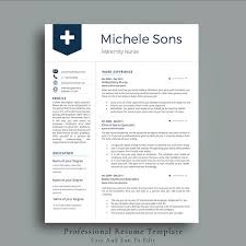 Nursing Resumes Templates Inspiration Professional Nurse Resume Template Resume Templates Creative Market