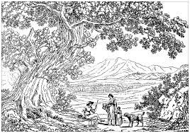 Tree Nature Doodle 1 Freebie Print On Coloring Pages For Adults