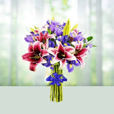 mixed lily flowers bouquet