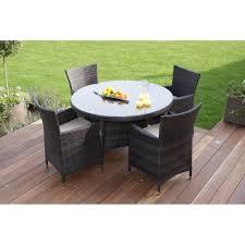 miami 4 seat round dining set