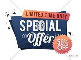 Special Offer Sale With 50 Off For Limited Time Creative Paper Tag Banner Poster Or Flyer Design Vector Illustration