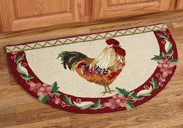 rooster accent rugs for kitchen