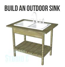 diy kitchen sink construct a outdoor sink base excellent for quick and easy cleanups i have wanted kitchen sink base cabinet liner