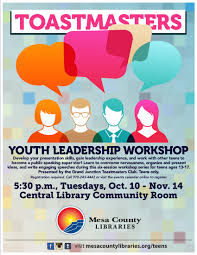 Six Week Toastmasters Youth Leadership Workshop Offered For