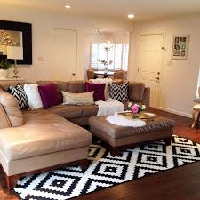 what size area rug under sectional designs
