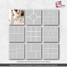 Photo Collage Templates 12x12 In Photo Template Set Collage Templates Pack Photography Template Storyboard Templates Instant Download