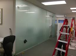 office glass frosting. Frosted Office Glass Partitioning System Includes Wall With Inspiration Ideas Door Frosting