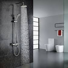contemporary shower heads. Chrome Finish Contemporary Shower Faucet With Handheld And 8\ Heads O