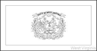 Small Picture West Virginia State Flag Coloring Pages USA for Kids