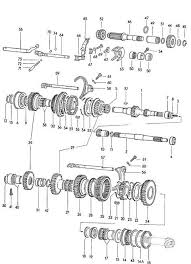 Vw Displacement Chart Gears And Shafts Manual Transmission Volkswagen Vw Beetle