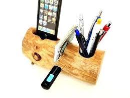 Desk Angelica: Cool Desk Pen Holders For Holder Organizer Wood Storage  Office L: