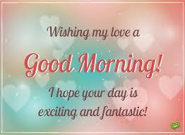 wishing good morning to lover
