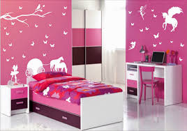 Pink Chair For Bedroom Bedroom Rabbit Doll Flower Hanging Lamp Stickered Wall Pink Chair
