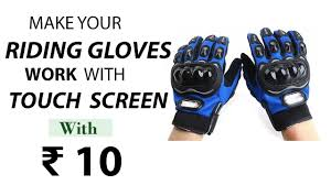 how to make your riding gloves work with touch screen with 10 rus s own biker