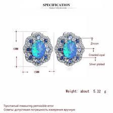 red fire opal jewelry australia clip earrings flower design whole rel zirconia blue fire