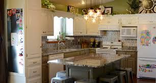 kitchen remodel white green silver lennon granite countertops tin backspl transitional