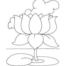 Small Picture Lotus Flower Symbol Coloring Page Sketch Coloring Page
