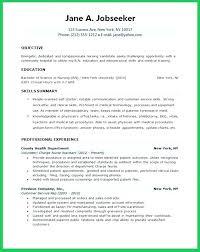 Sample Resume For Company Nurse