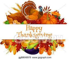 Vector Art Thanksgiving Autumn Harvest Decoration Banner