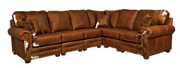 Western Couches Living Room Furniture Outlaw Sectional Sofa In Weston Pecan Hair On Hide For The
