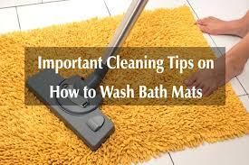 how to clean bath mats