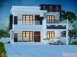 4 bedroom modern double storied house plan 2500 sq ft