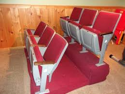 P Vintage Movie Theater Seats Chairs Red Set Of 6 Man Cave For Sale  Old  Cinema Reclaimed Retro Cine