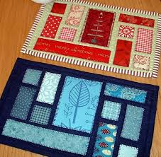 50 best Placemat Patterns for MOWs images on Pinterest | Carpets ... & Quilting: Ticker Tape Mug Rug (Quilt as You Go) or using Christmas Fabrics  to make patchwork cards. Adamdwight.com