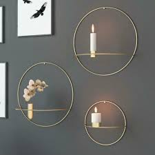 3d nordic style metal geometric candle