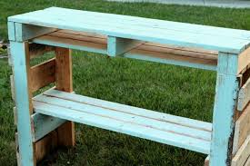 pallet outdoor bench diy. Diy-pallet-potting-bench-apieceofrainbowblog (2) Pallet Outdoor Bench Diy