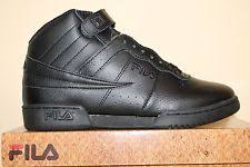 fila f13 black suede. mens fila f13 f-13 classic mid high top basketball shoes sneakers white black suede