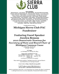 political fundraiser invite sierra club michigan chapter action alerts event announcement