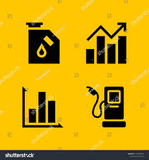 Diesel Graphic Design 4 Economy Icons Vector Set Fuel Stock Vector Royalty Free