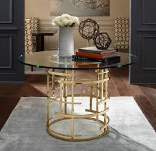 glass pedestal table brass and glass table polished brass entryway ideas unique round entryway table decorative