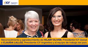 Reconocimiento de Hilary Oliver, presidente de ICF Global a Claudia Lalloz,  presidente ICF Argentina y al equipo de trabajo | ICF Argentina