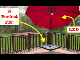 install base for patio umbrella best
