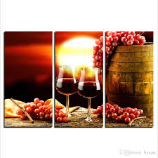 2018 kitchen canvas art red wine bottle canvas wall art painting 3 panel large canvas art print for living room bedroom kitchen wall decorations from  on large wine bottle wall art with 2018 kitchen canvas art red wine bottle canvas wall art painting 3