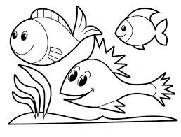 Small Picture Rainbow Fish Coloring Pages Of Sea Animals Animal Coloring pages