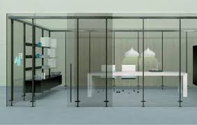 office partition with door. Office Dividers Glass. Minimal Partitions | Glass Demountable D Partition With Door