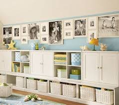 Playroom storage... Like the idea of open boxes with baskets at the bottom  & closed storage just above it then put open bookshelf at the top |  Pinterest ...