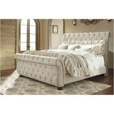 B643-78 Ashley Furniture Willenburg - Dark Brown King Upholstered Bed