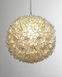 home inspirations fascinating neiman marcus capiz shell 1 light pendant neiman marcus within endearing capiz
